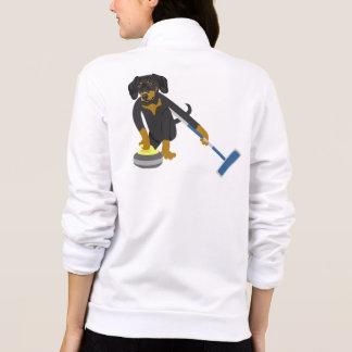 Dachshund Curling Printed Jackets