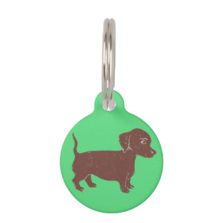 Dachshund Custom Round Dog Tag