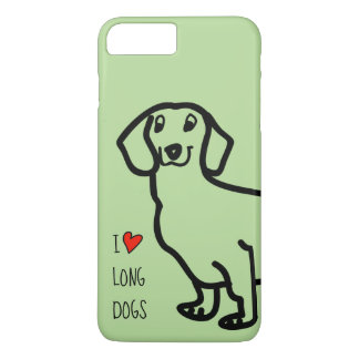 Dachshund Cute Dog Funny Wiener I Love Long Dogs Case-Mate iPhone Case