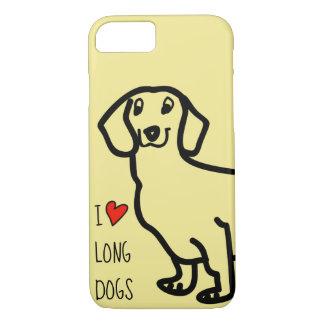 Dachshund Cute Dog Funny Wiener I Love Long Dogs Case-Mate iPhone Case
