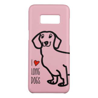 Dachshund Cute Dog Funny Wiener I Love Long Dogs Case-Mate Samsung Galaxy S8 Case