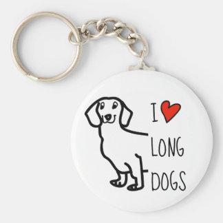 Dachshund Cute Dog Funny Wiener I Love Long Dogs Keychain