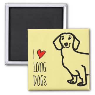 Dachshund Cute Dog Funny Wiener I Love Long Dogs Magnet