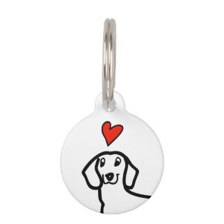 Dachshund Cute Wiener Dog Love Heart Modern Custom Pet Tag