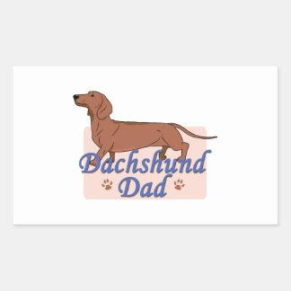 Dachshund Dad 2 Rectangle Sticker
