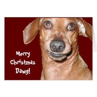 Dachshund Dawg Christmas Card