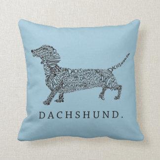 Dachshund Design Throw Pillow