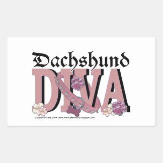 Dachshund DIVA Rectangle Sticker