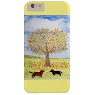 Dachshund Dog Autumn Walk Barely There iPhone 6 Plus Case