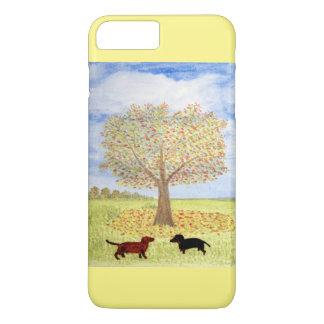 Dachshund Dog Autumn Walk iPhone 7 Plus Case