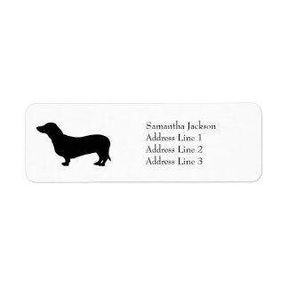 Dachshund dog black silhouette cute custom