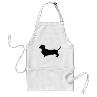 Dachshund dog black silhouette cute standard apron