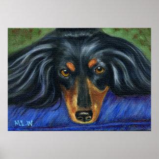 Dachshund Dog Breed Art - Hallie Poster