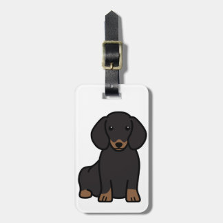 Dachshund Dog Cartoon Luggage Tag