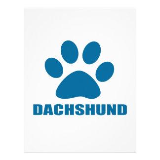 DACHSHUND DOG DESIGNS LETTERHEAD