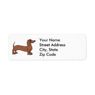 Dachshund Dog Return Address Labels