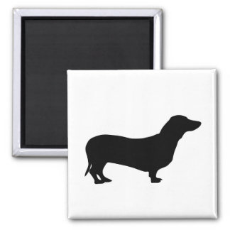 Dachshund dog silhouette magnet, gift idea magnet