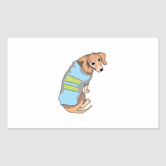 DACHSHUND DOG RECTANGLE STICKERS