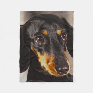 Dachshund Dog Water Color Oil Paint Art Fleece Blanket
