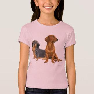 Dachshund Dogs Girls Baby Doll T-Shirt