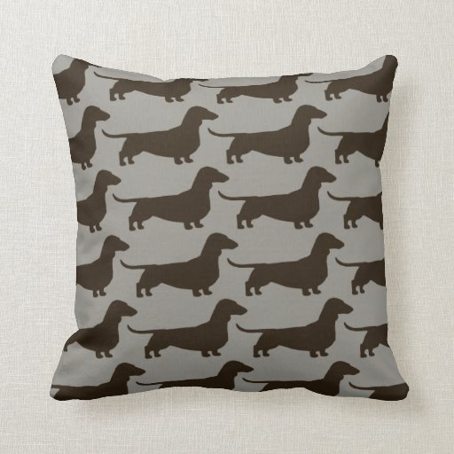 Dachshund Dogs Pattern Pillow