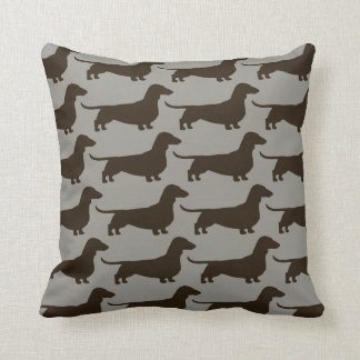 Dachshund Dogs Pattern Throw Pillow