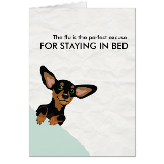 Dachshund Excuse for staying in bed Get better Card