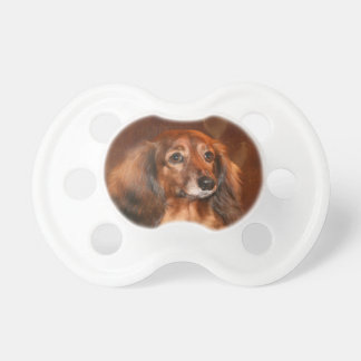Dachshund face baby pacifiers