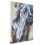 Dachshund Fine art painting on Wrapped Canvas Stretched Canvas Prints