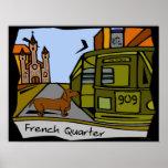 Dachshund French Quarter Streetcar Poster