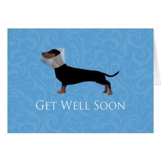 Dachshund Get Well Soon Design Card