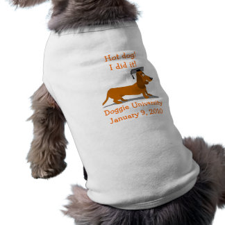 Dachshund Graduation Dog Shirt Template