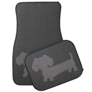 Dachshund Gray Car Floor Mats Wiener Dog