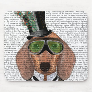 Dachshund Green Goggles Top Hat Mouse Pad
