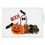 Dachshund Halloween Card