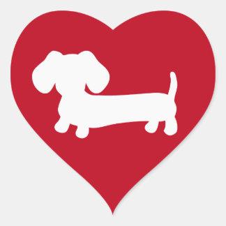 Dachshund Heart Love Envelope Seals Stickers