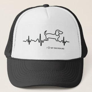 Dachshund Heartbeat Trucker Hat
