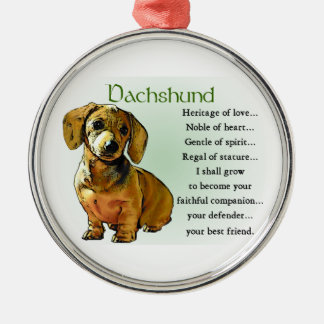 Dachshund Heritage of Love Metal Ornament
