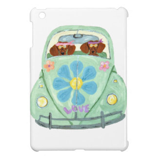 Dachshund Hippies In Their Flower Love Mobile Case For The iPad Mini