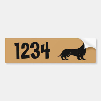 Dachshund  House Numbers Bumper Sticker