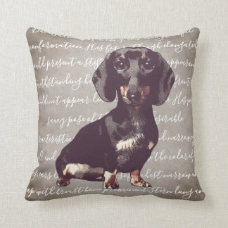 Dachshund Illustration Pillow