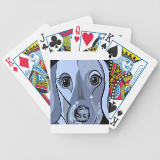 Dachshund in Blue Bicycle Playing Cards