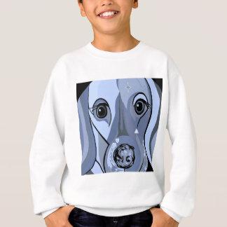 Dachshund in Blue Sweatshirt