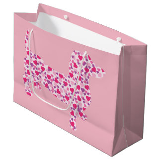Dachshund in Pink Hearts Large Gift Bag