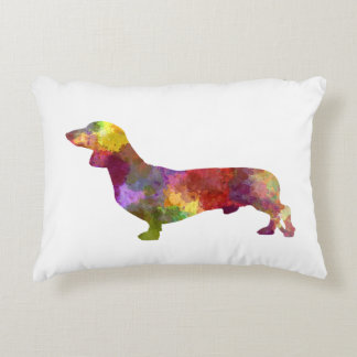 Dachshund in watercolor 2 accent pillow