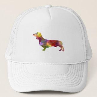 Dachshund in watercolor 2 trucker hat