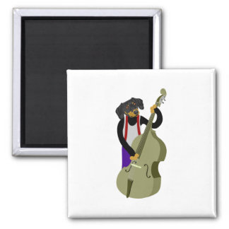 Dachshund Jazz Bass Player Magnet