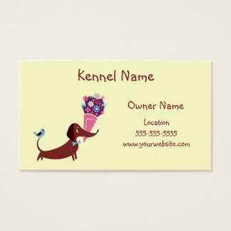 Dachshund Kennel Business Card