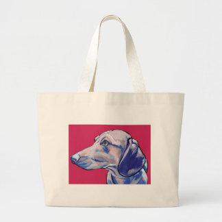 dachshund large tote bag