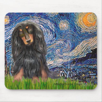 Dachshund (LHBT) - Starry Night Mouse Pad